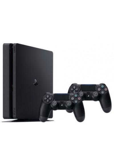 PS4 Slim + 500HDD + 2 Pulteliai + 4 Žaidimai