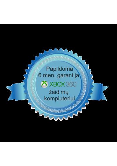 Papildoma 6 mėn. garantija žaidimų kompiuterio komplektui XBOX 360