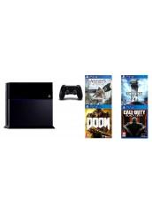 PS4 + 500HDD + 4 Žaidimai