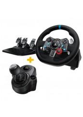 Logitech G29 (PS3/PS4)  Vairas su pedalais ir pavarų svirtimi