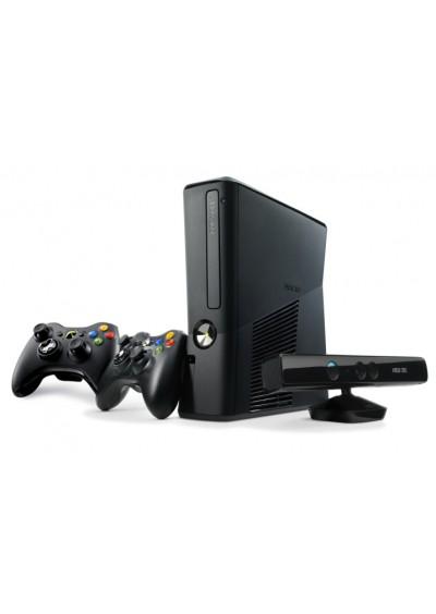 XBOX 360 + 250GB HDD + Du pulteliai + Kinect kamera + RGH Atrišimas