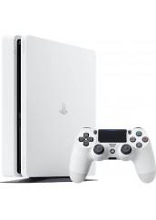 PS4 Slim White + 500GB + 1 Pultelis